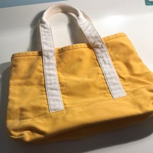 J Crew yellow small canvas tote